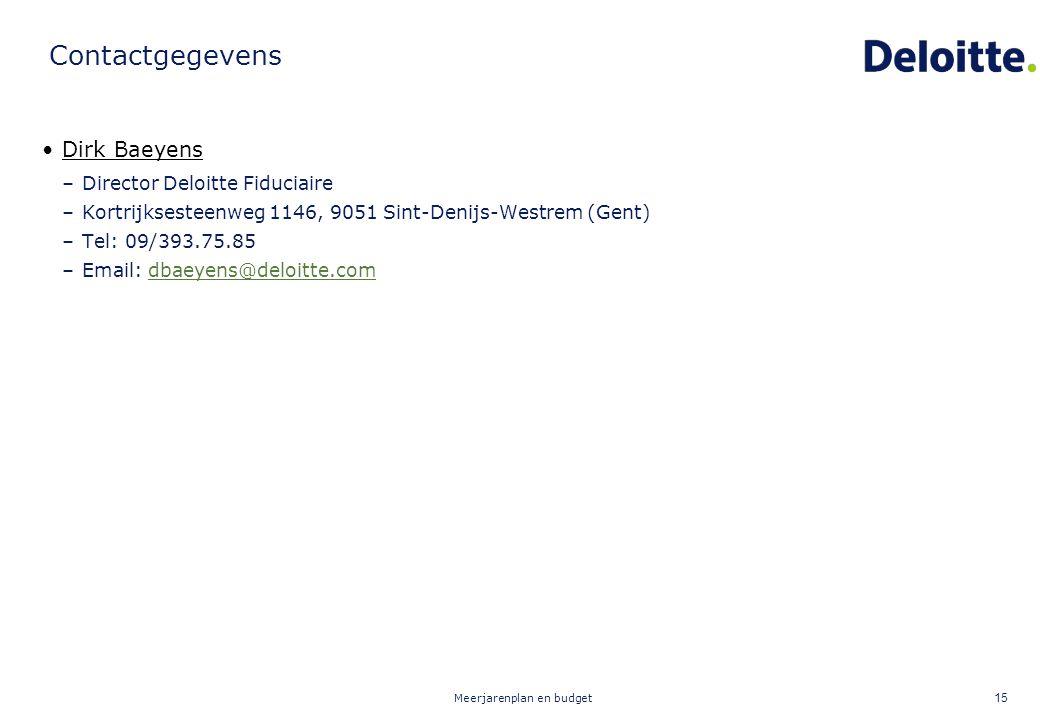 Contactgegevens Dirk Baeyens Director Deloitte Fiduciaire