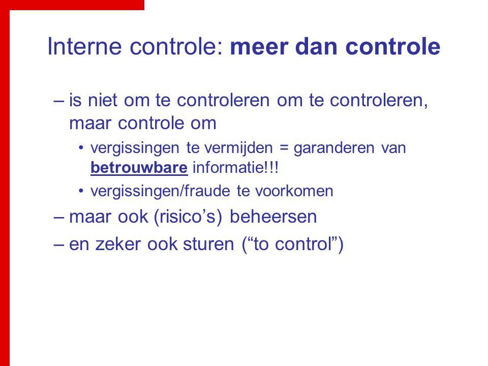 Interne controle: meer dan controle