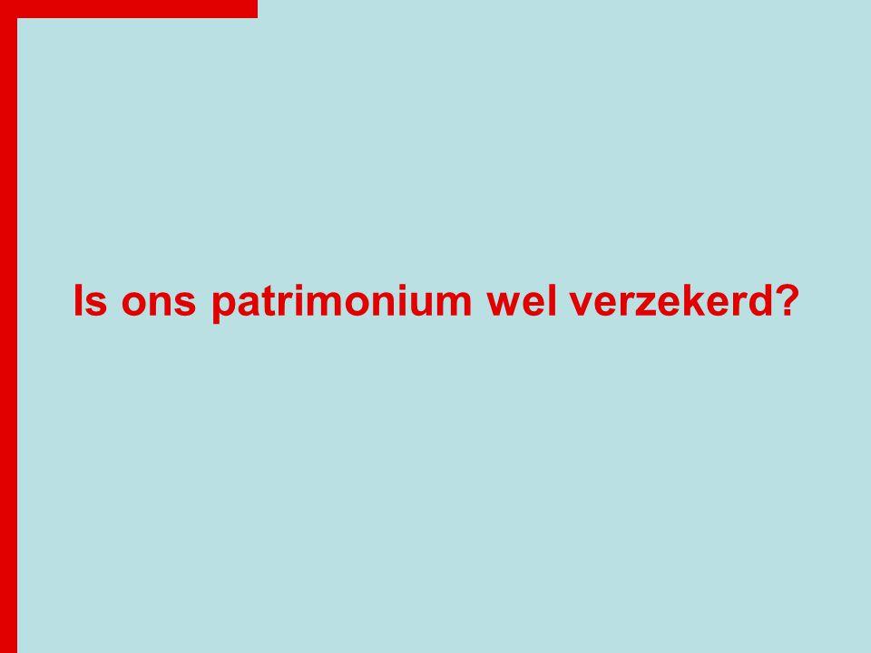 Is ons patrimonium wel verzekerd