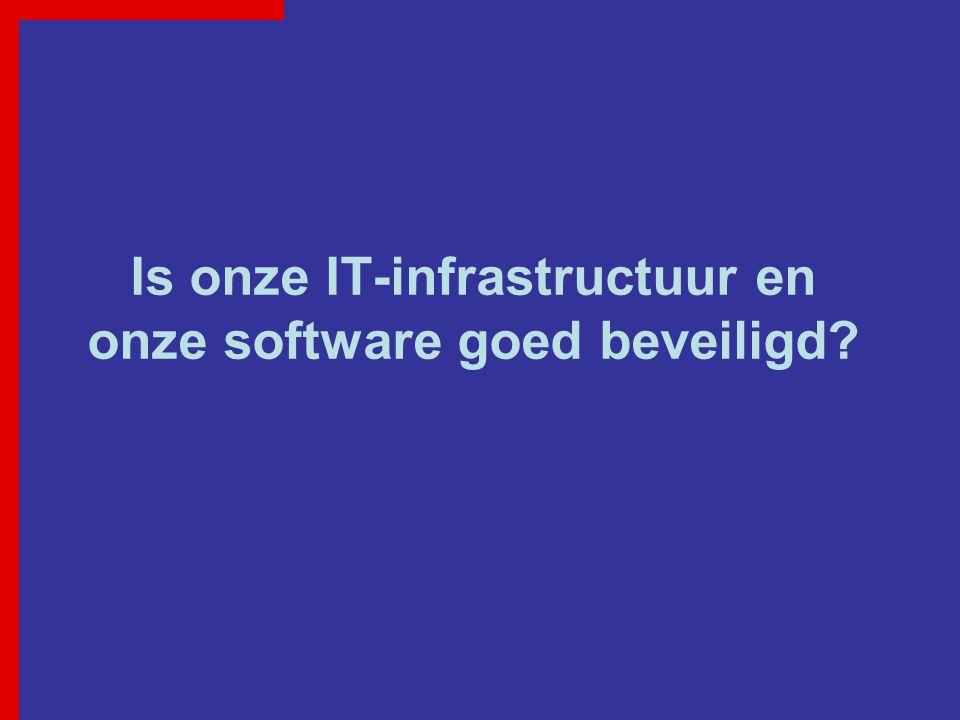 Is onze IT-infrastructuur en onze software goed beveiligd