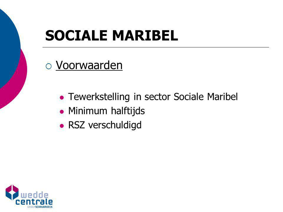 SOCIALE MARIBEL Voorwaarden Tewerkstelling in sector Sociale Maribel