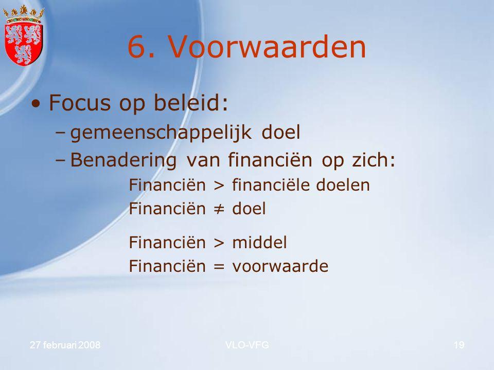 6. Voorwaarden Focus op beleid: gemeenschappelijk doel