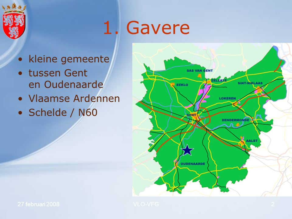 1. Gavere kleine gemeente tussen Gent en Oudenaarde Vlaamse Ardennen