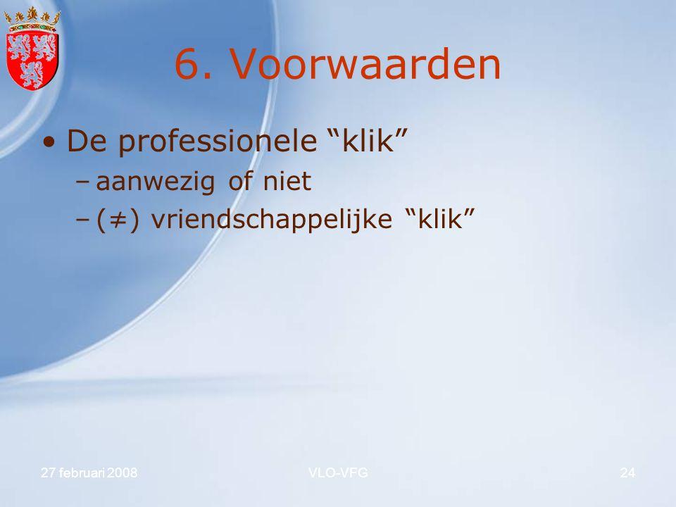 6. Voorwaarden De professionele klik aanwezig of niet