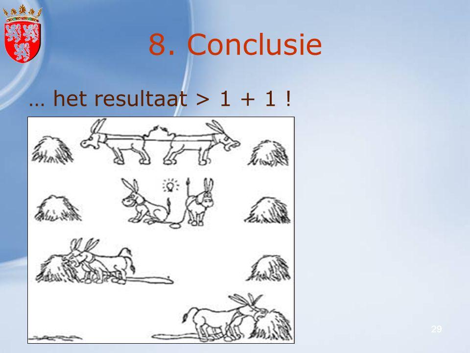 8. Conclusie … het resultaat > 1 + 1 ! 27 februari 2008 VLO-VFG