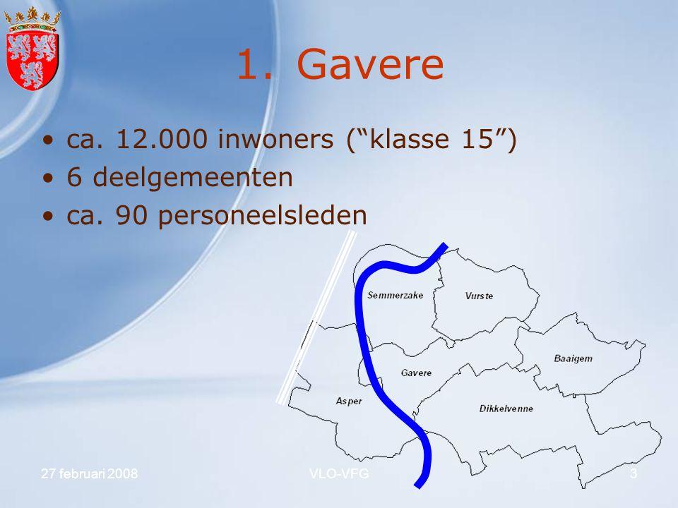 Gavere ca. 12.000 inwoners ( klasse 15 ) 6 deelgemeenten