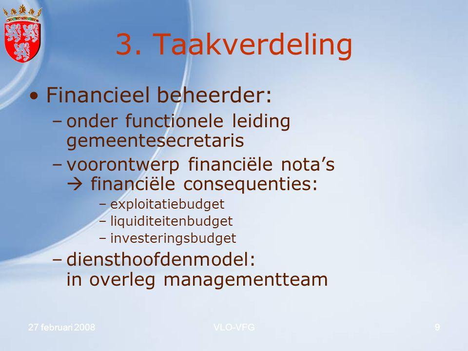 3. Taakverdeling Financieel beheerder: