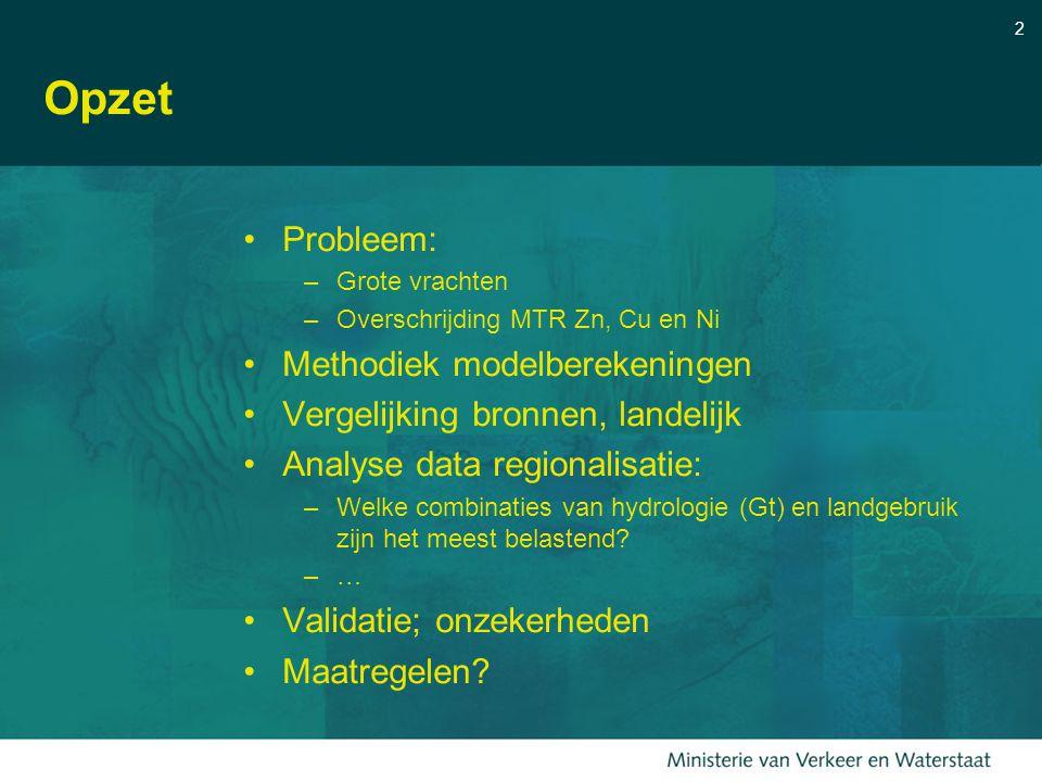 Opzet Probleem: Methodiek modelberekeningen