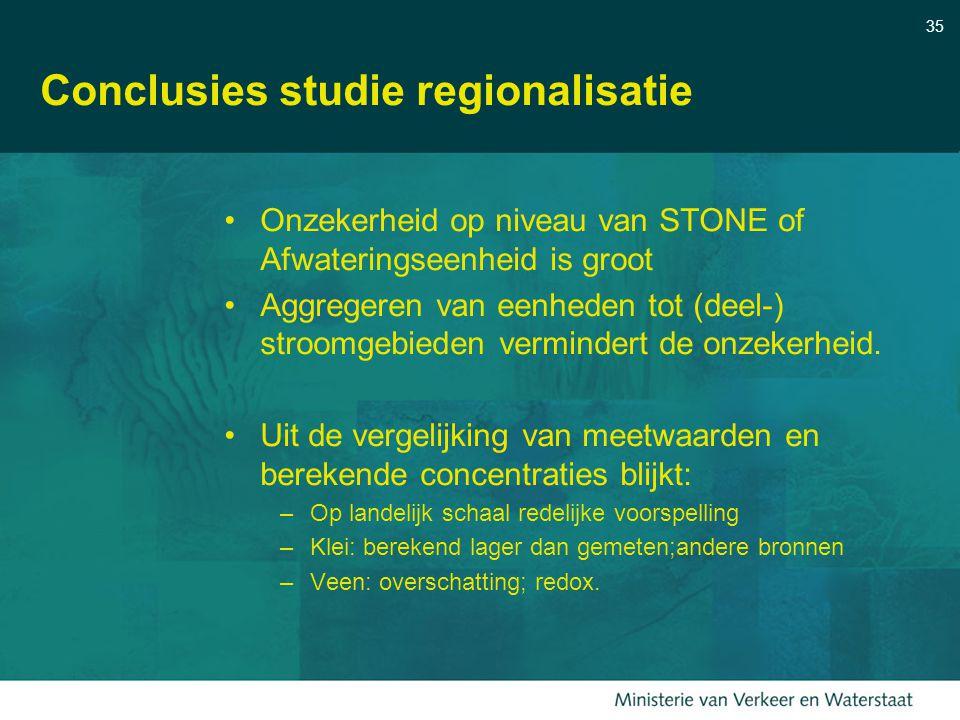 Conclusies studie regionalisatie