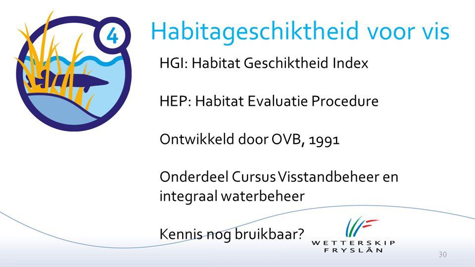Habitageschiktheid voor vis