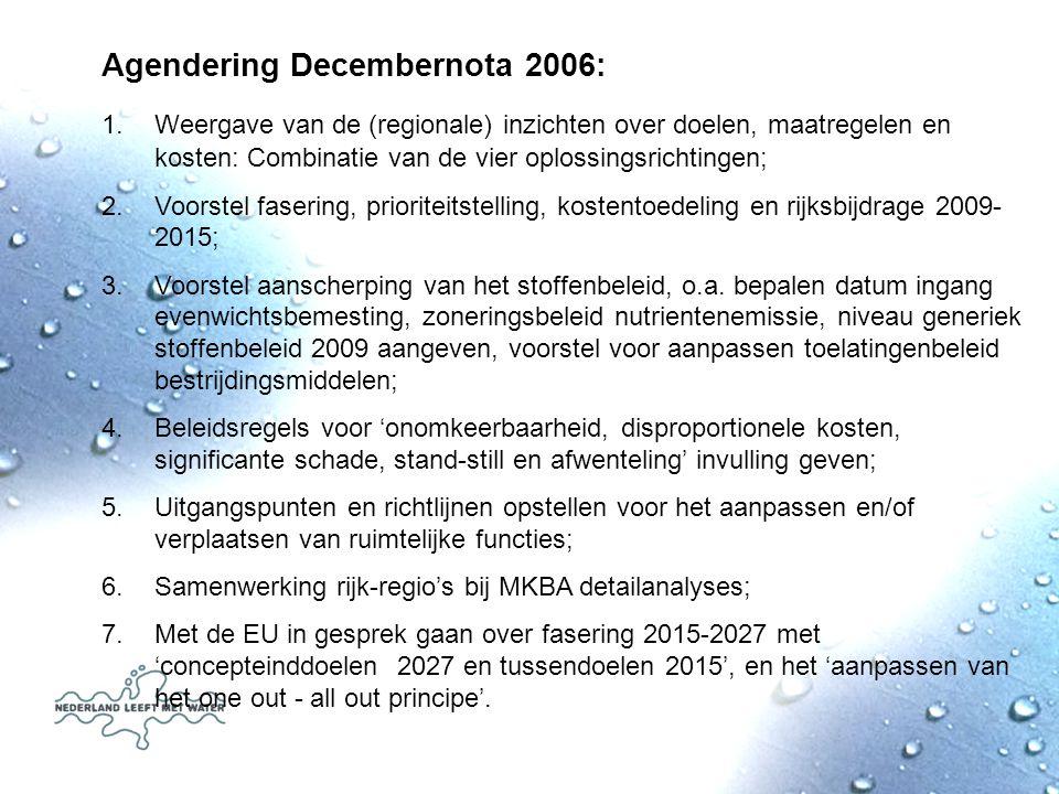 Agendering Decembernota 2006: