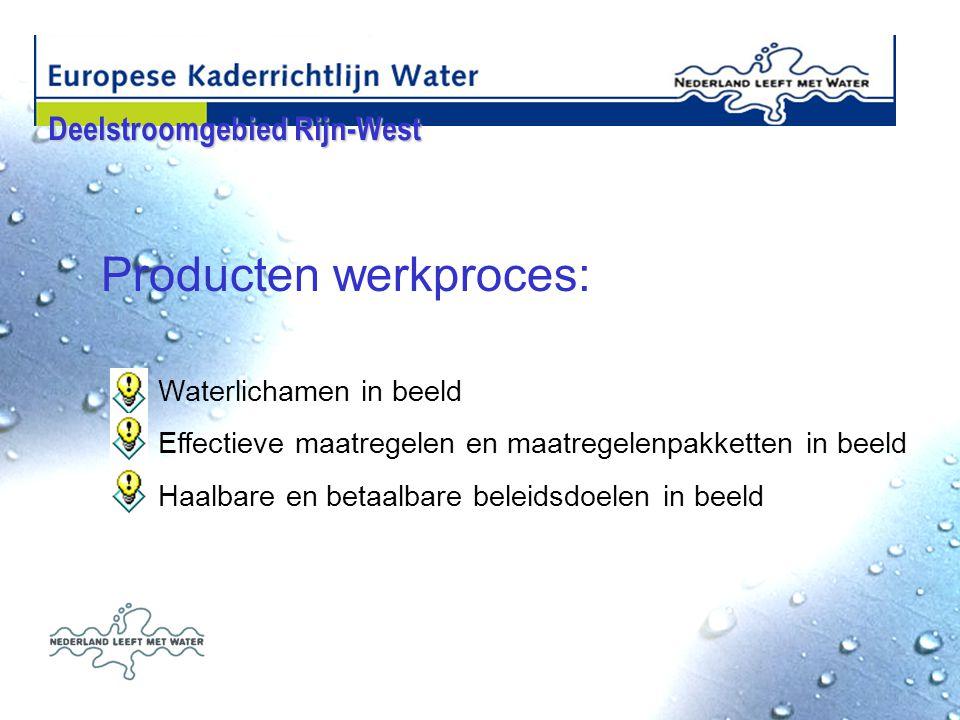 Producten werkproces: