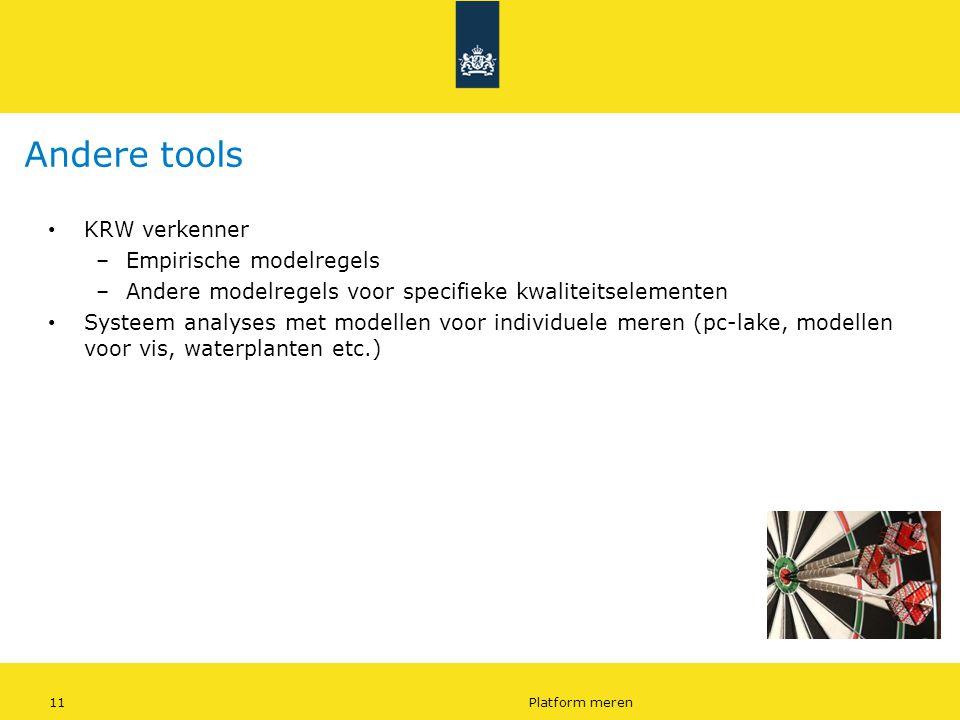 Andere tools KRW verkenner Empirische modelregels