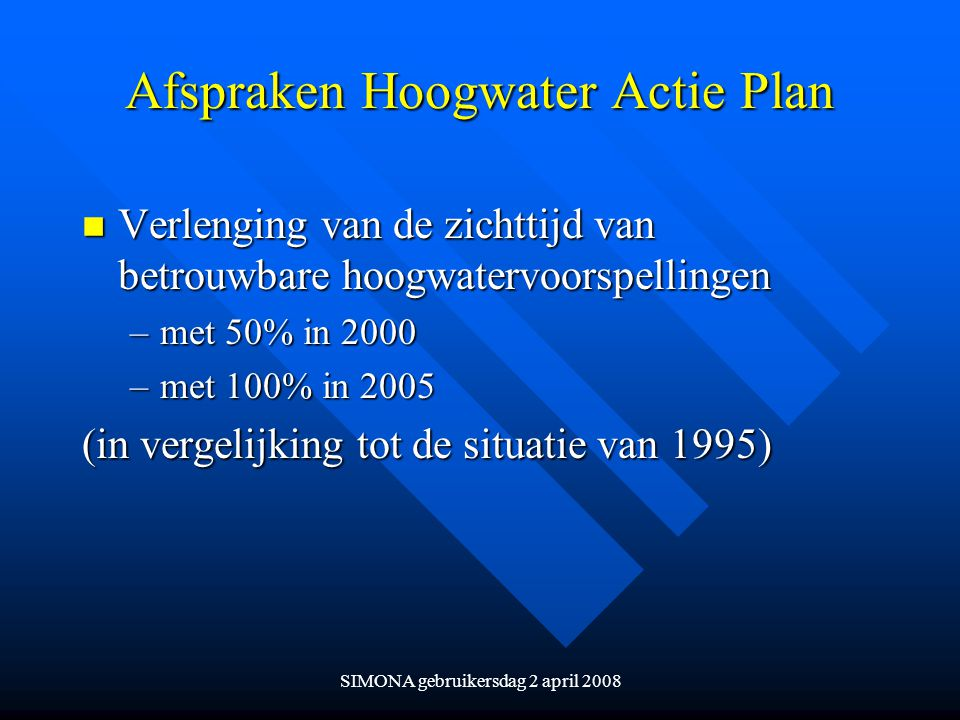 Afspraken Hoogwater Actie Plan