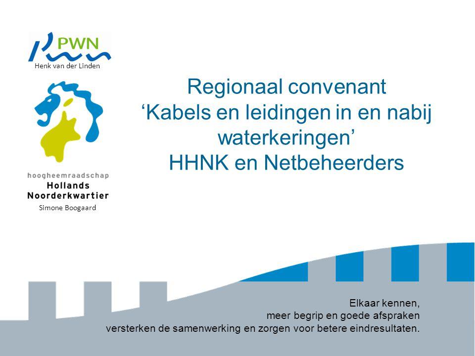 Henk van der Linden Regionaal convenant 'Kabels en leidingen in en nabij waterkeringen' HHNK en Netbeheerders.
