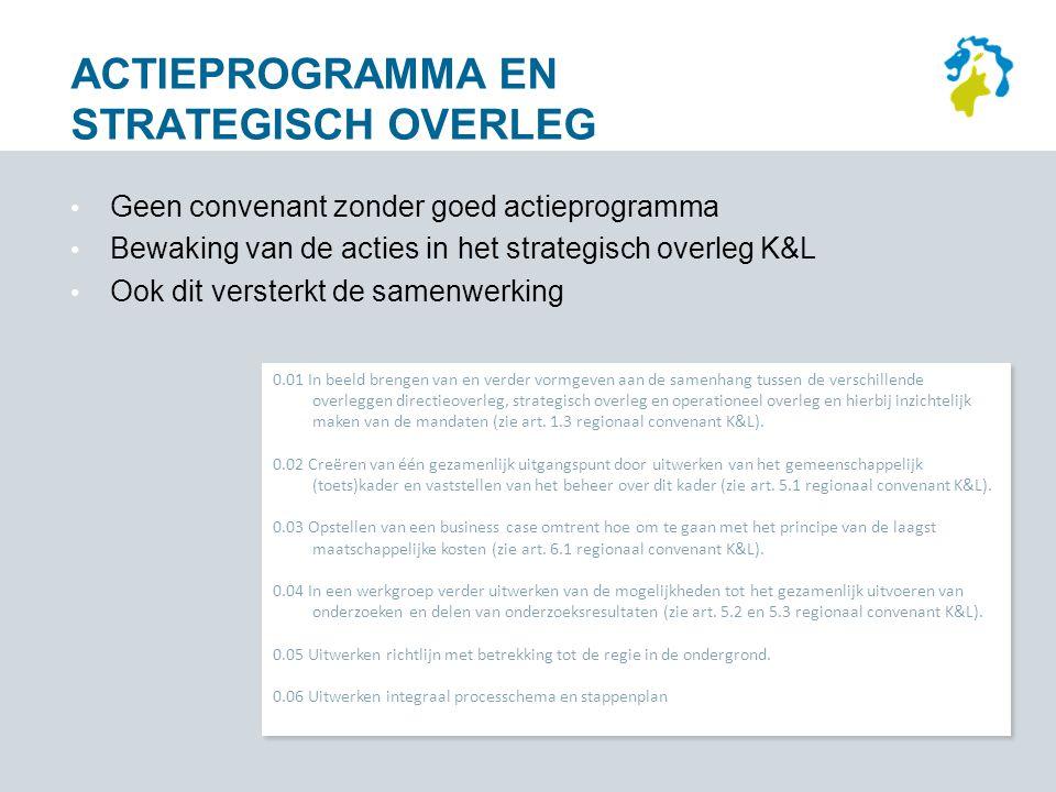 Actieprogramma en strategisch overleg