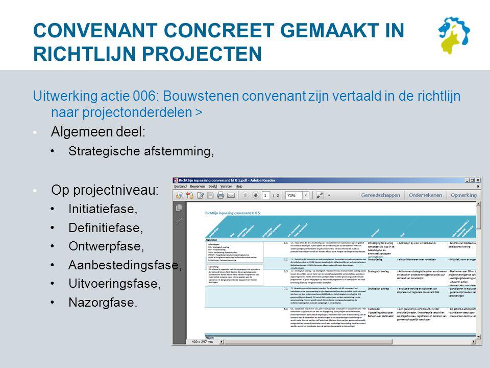 Convenant concreet gemaakt in Richtlijn projecten