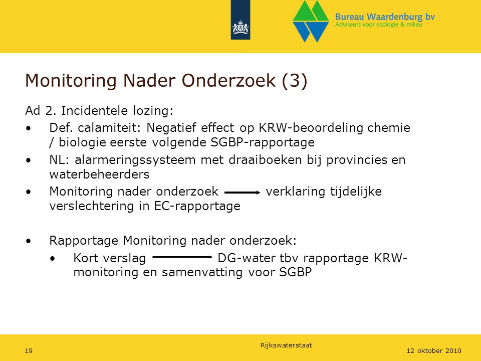 Monitoring Nader Onderzoek (3)