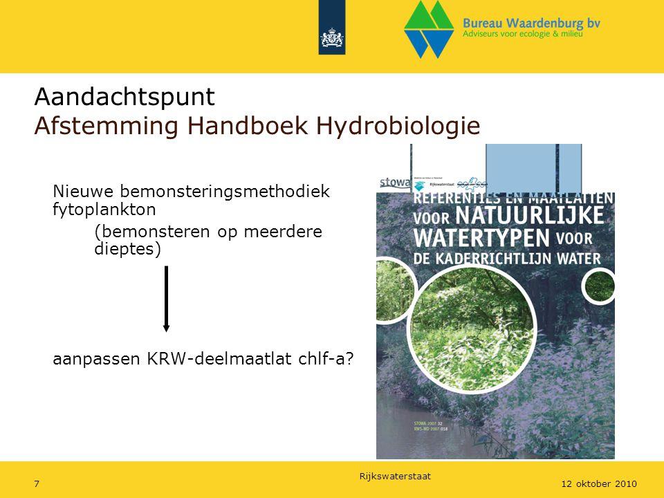 Aandachtspunt Afstemming Handboek Hydrobiologie