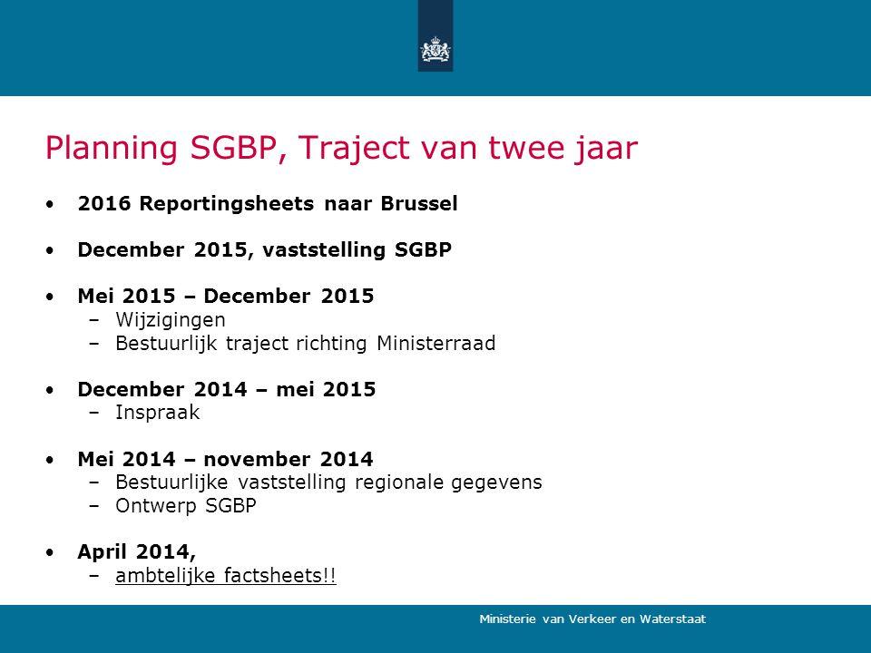 Planning SGBP, Traject van twee jaar