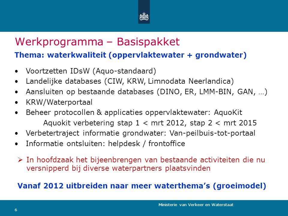 Werkprogramma – Basispakket