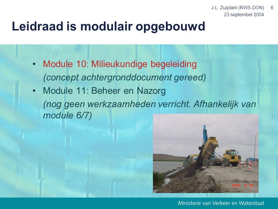 Leidraad is modulair opgebouwd