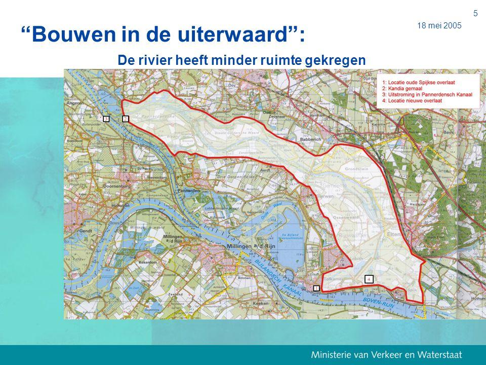 Bouwen in de uiterwaard : De rivier heeft minder ruimte gekregen
