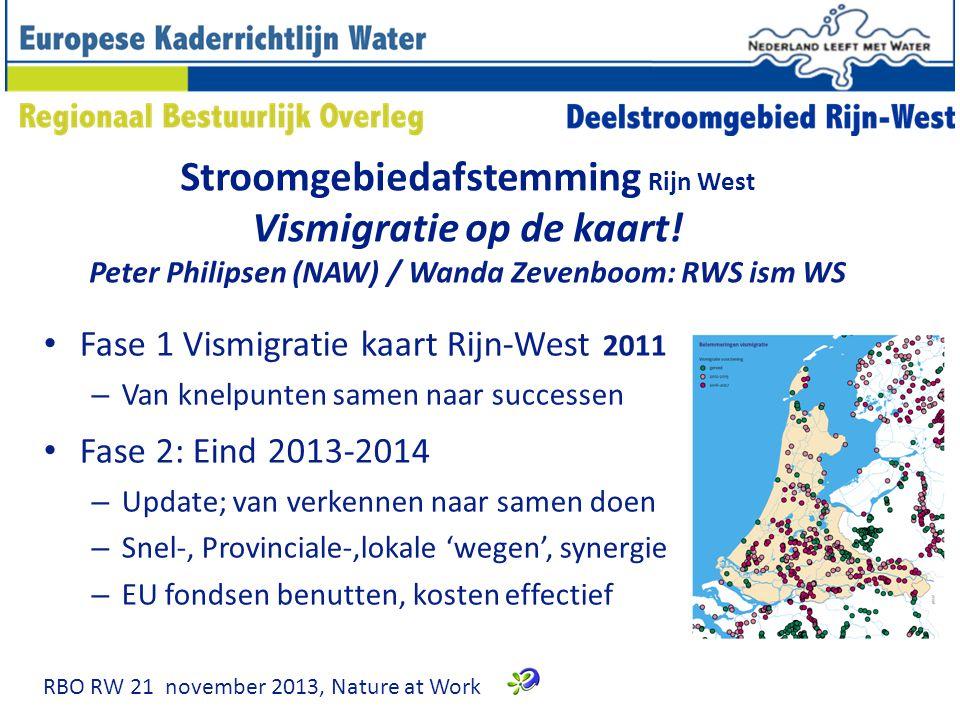 Stroomgebiedafstemming Rijn West Vismigratie op de kaart