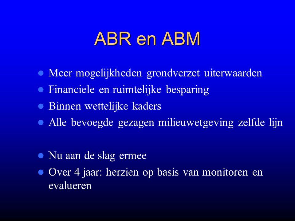 ABR en ABM Meer mogelijkheden grondverzet uiterwaarden