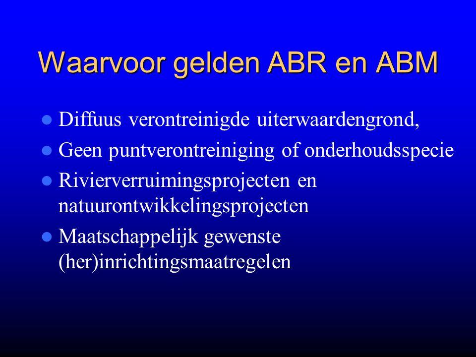 Waarvoor gelden ABR en ABM