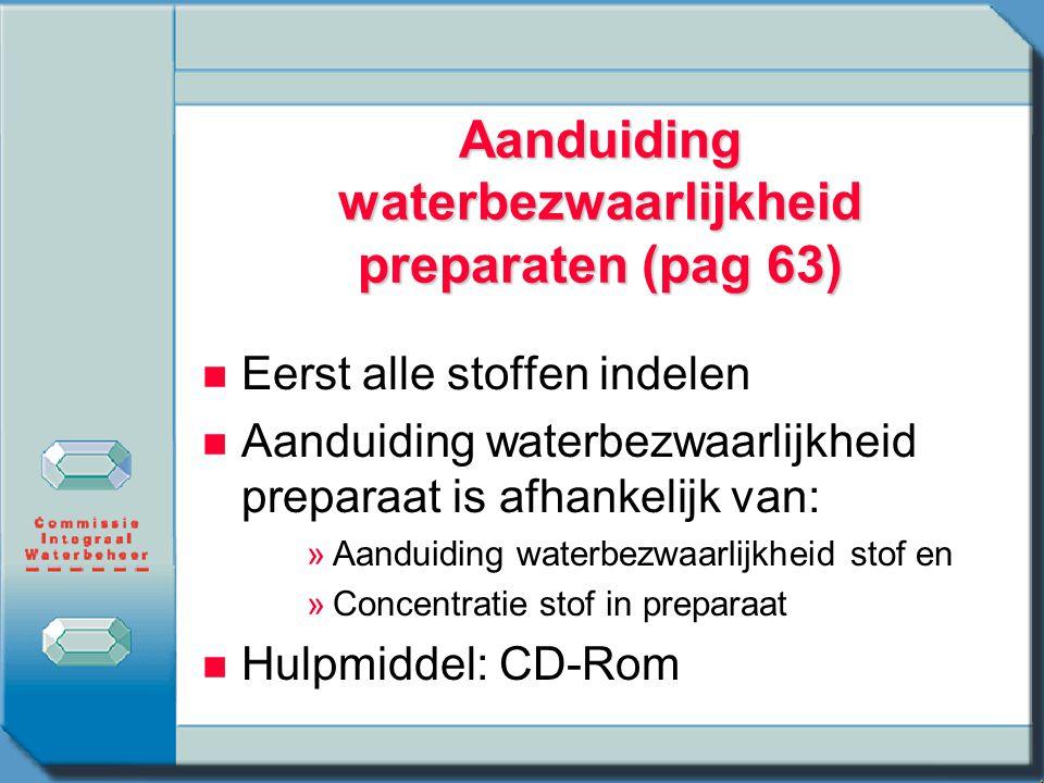 Aanduiding waterbezwaarlijkheid preparaten (pag 63)