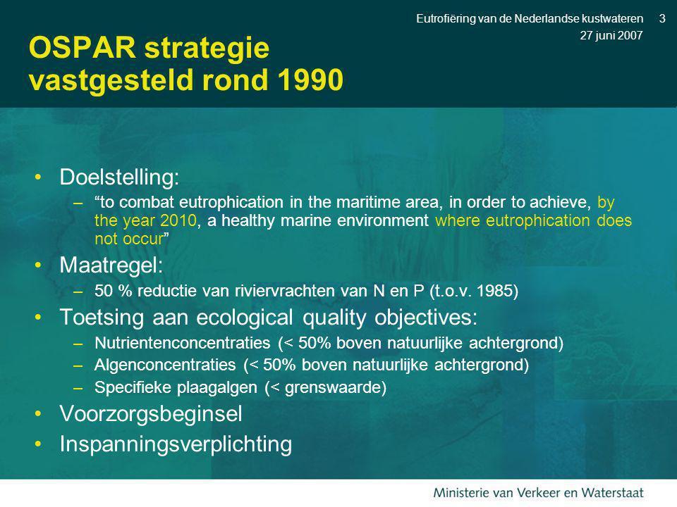 OSPAR strategie vastgesteld rond 1990