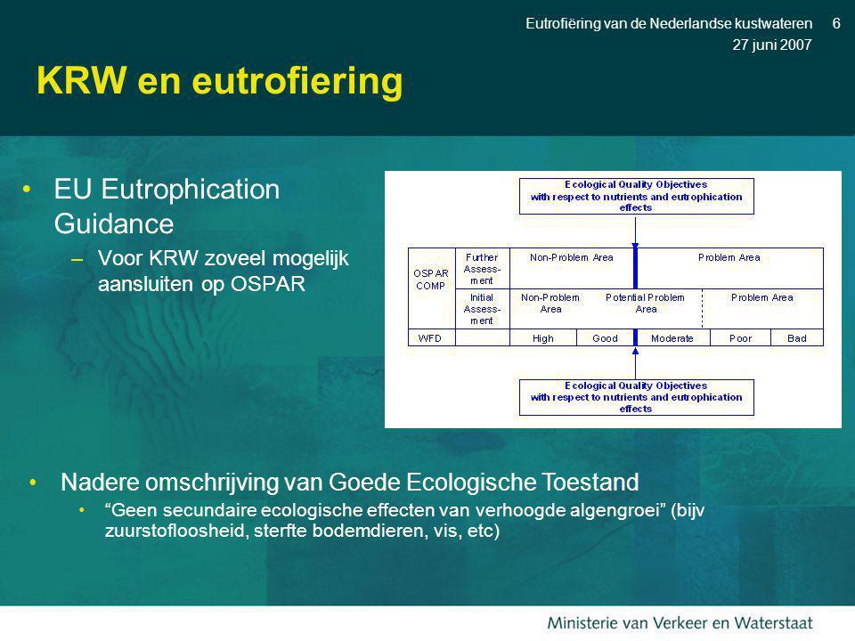 KRW en eutrofiering EU Eutrophication Guidance