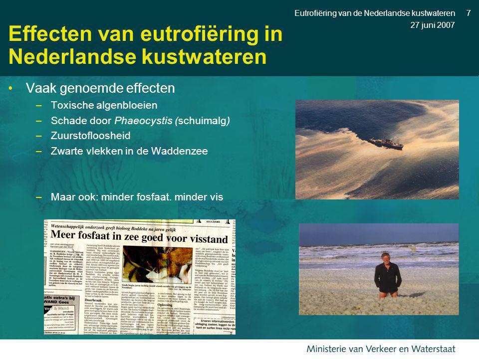 Effecten van eutrofiëring in Nederlandse kustwateren