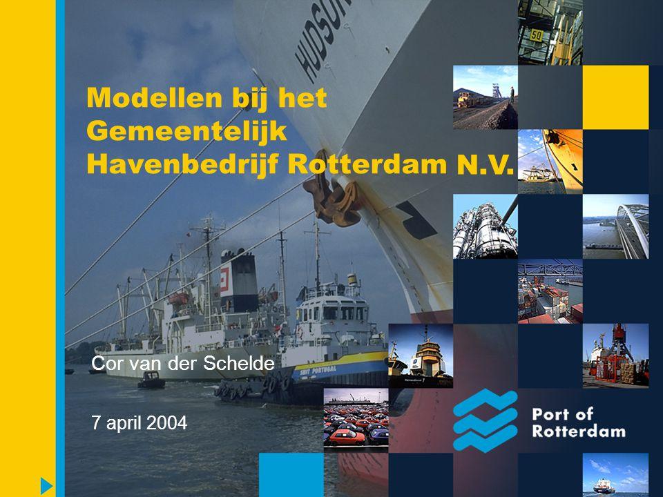 Modellen bij het Havenbedrijf Rotterdam