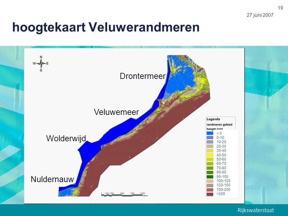 hoogtekaart Veluwerandmeren
