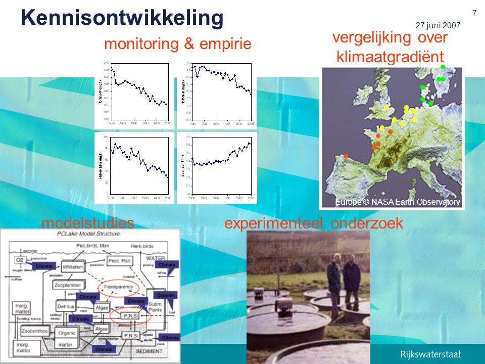 vergelijking over klimaatgradiënt