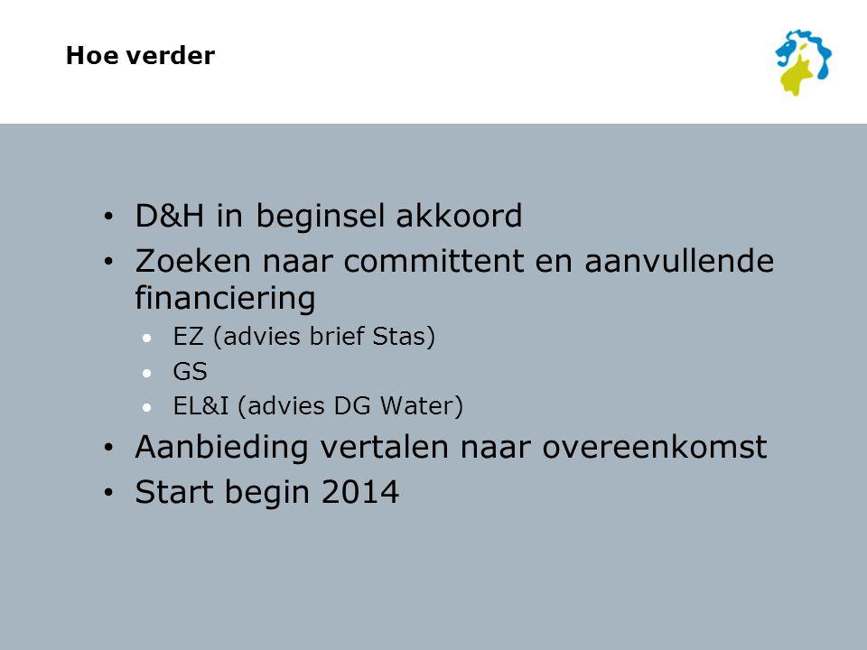 D&H in beginsel akkoord