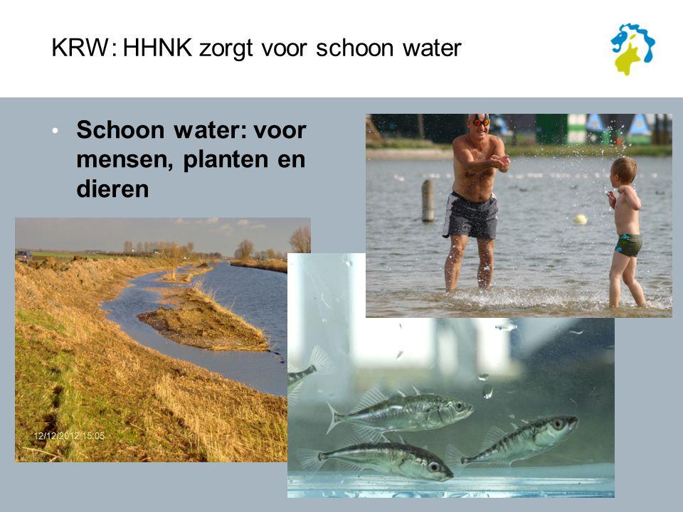 KRW: HHNK zorgt voor schoon water