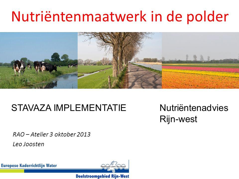 Nutriëntenmaatwerk in de polder