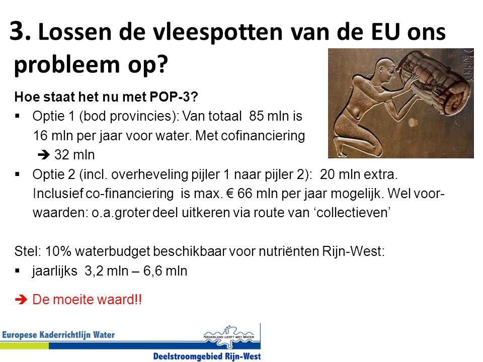 3. Lossen de vleespotten van de EU ons probleem op