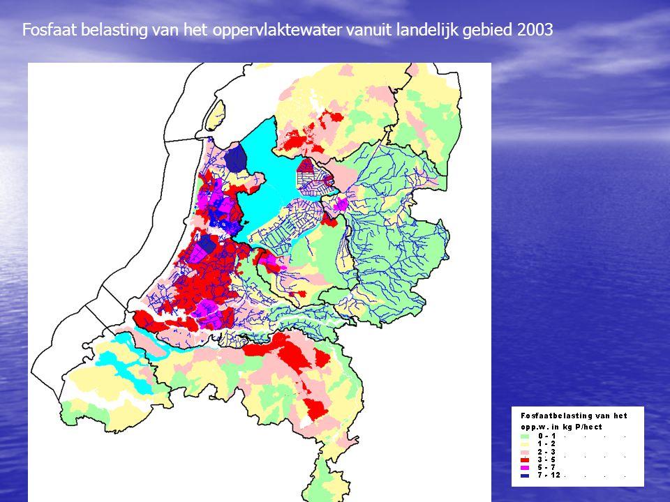 Fosfaat belasting van het oppervlaktewater vanuit landelijk gebied 2003