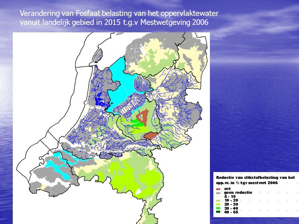 Verandering van Fosfaat belasting van het oppervlaktewater