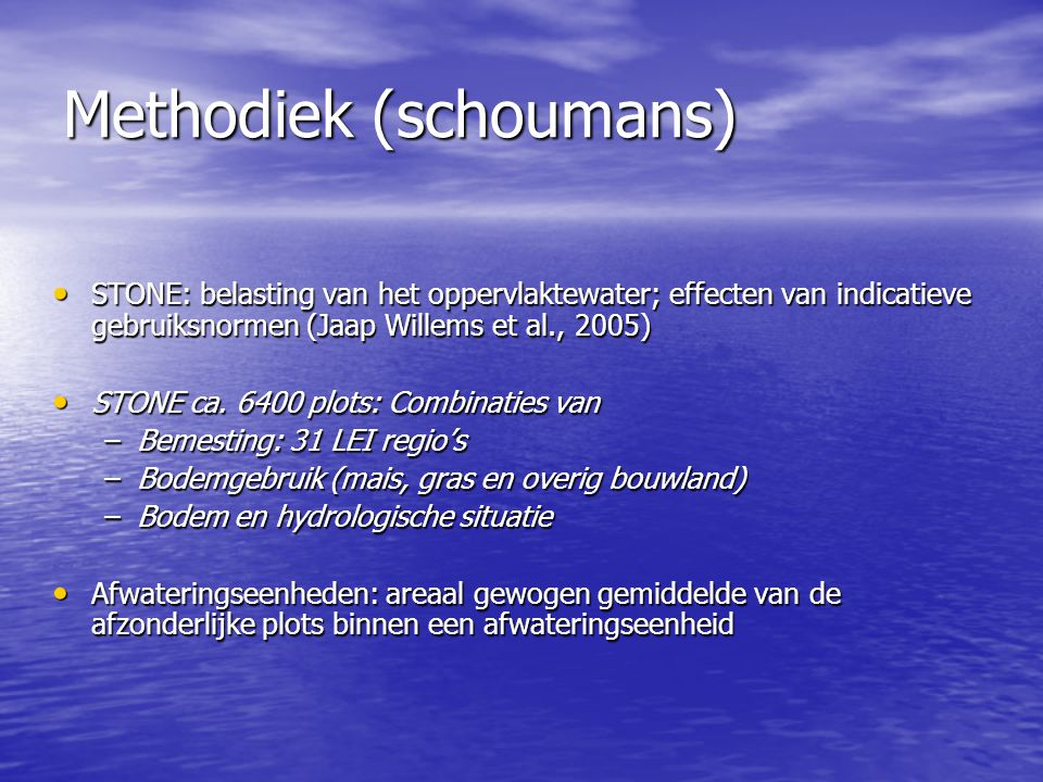 Methodiek (schoumans)