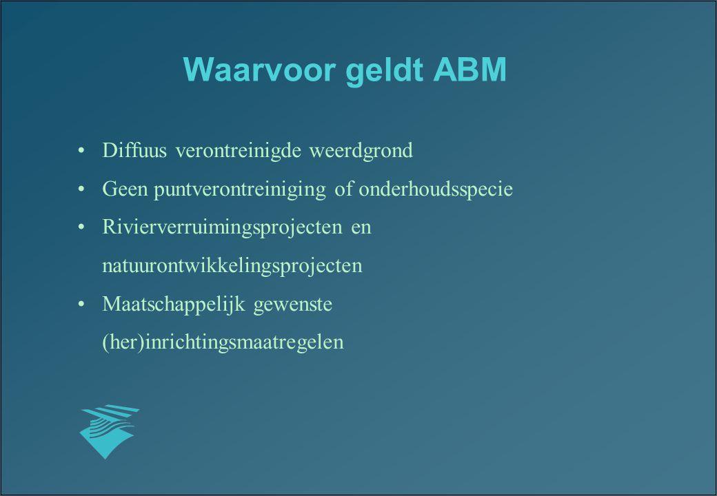 Waarvoor geldt ABM Diffuus verontreinigde weerdgrond