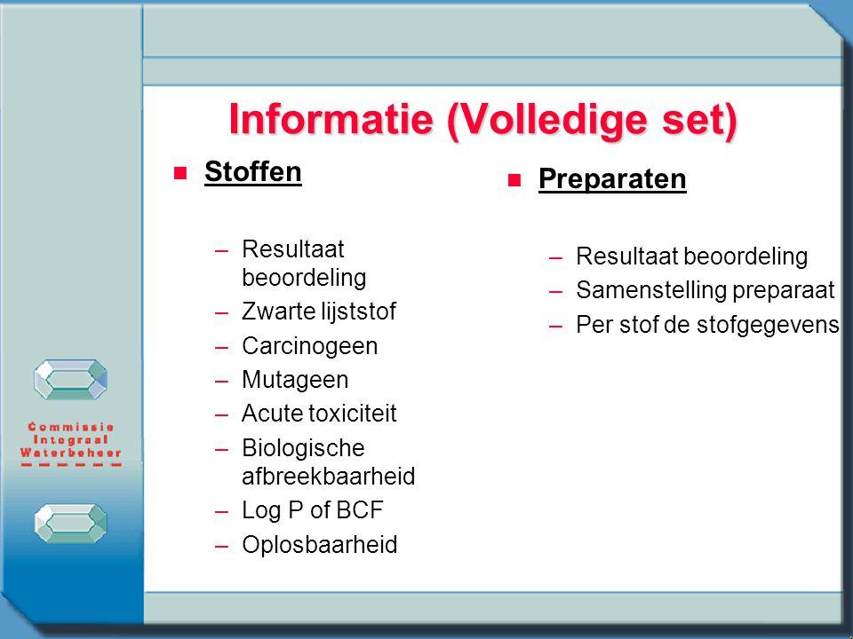 Informatie (Volledige set)