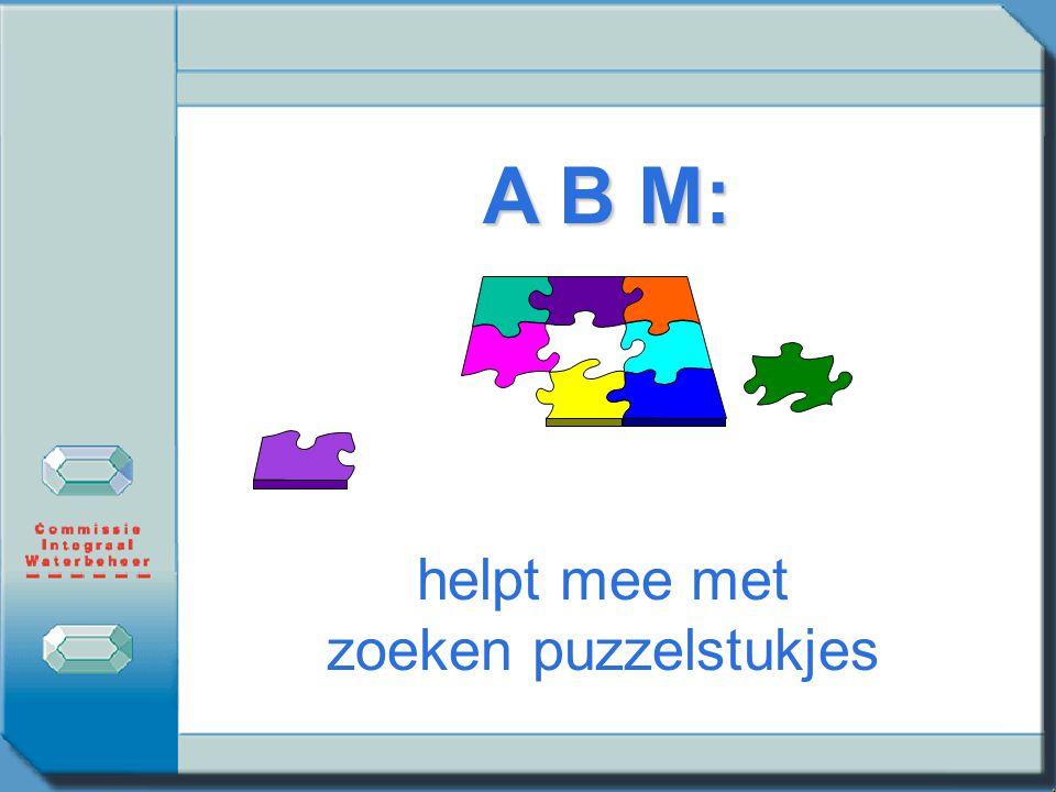 A B M: helpt mee met zoeken puzzelstukjes