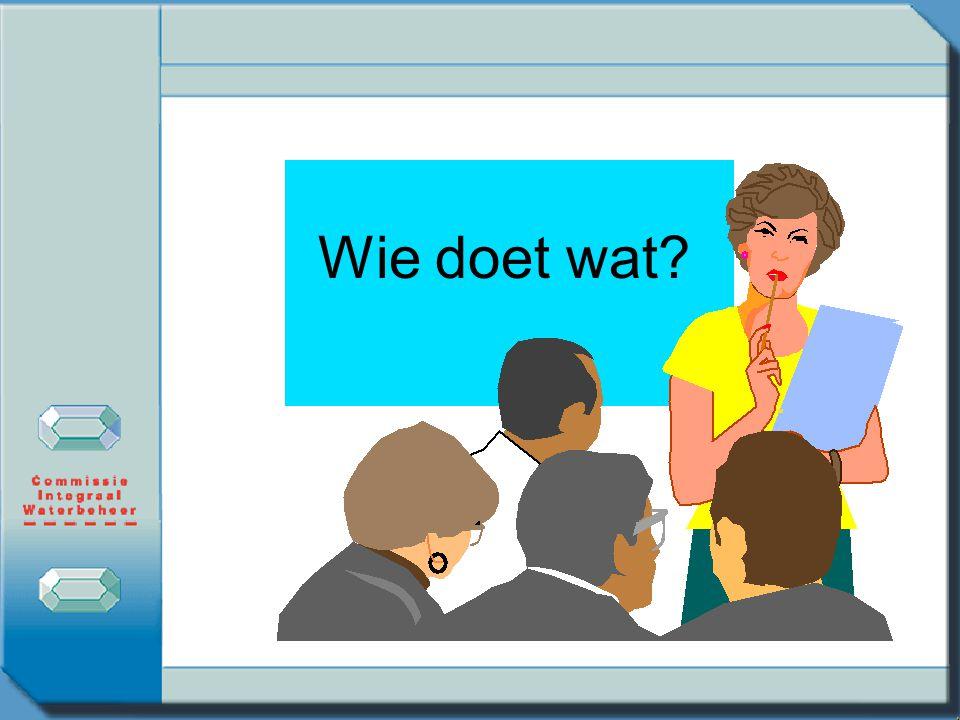 Wie doet wat In CIW-kader zijn ook afspraken gemaakt over wie op welk moment wat met de ABM moet doen.