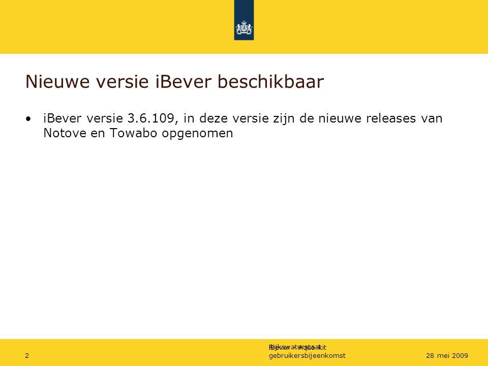 Nieuwe versie iBever beschikbaar