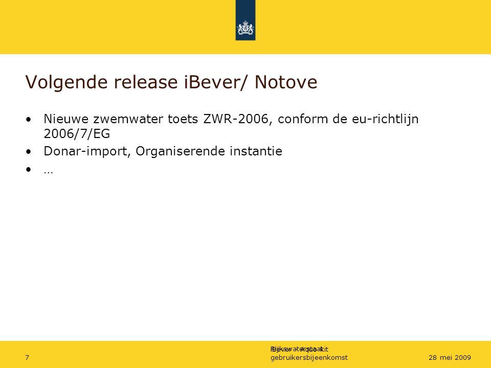 Volgende release iBever/ Notove